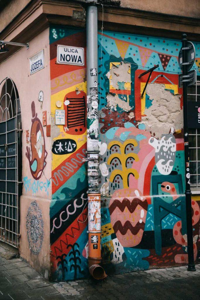 le quartier branché de Kazimierz à Cracovie et ses streets art. credit photo : Clara Ferrand - blog Wildroad