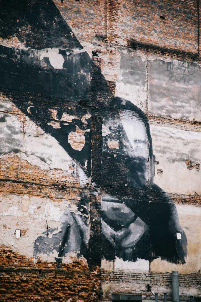 Le street art dans le quartier de Podgroz l'ancien ghetto Juif. credit photo : Clara Ferrand - blog Wildroad