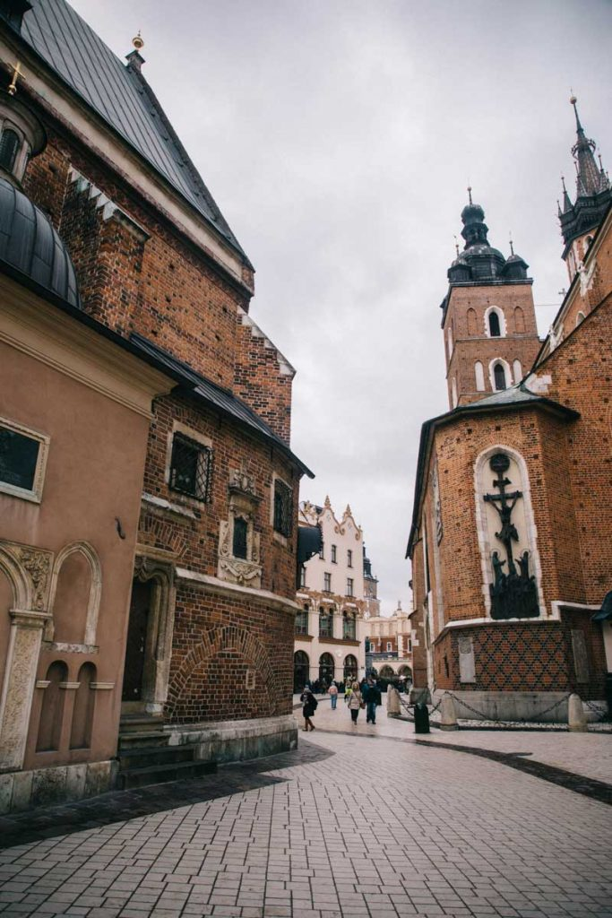 Les ruelles du centre-ville de Cracovie
