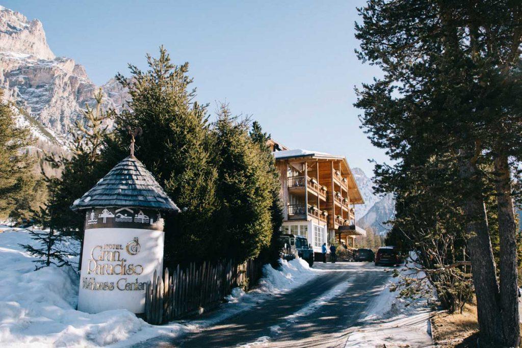L'hôtel Gran Paradiso aux pieds des dolomites, un hébergement de charme pour vos vacances. crédit photo : Clara Ferrand