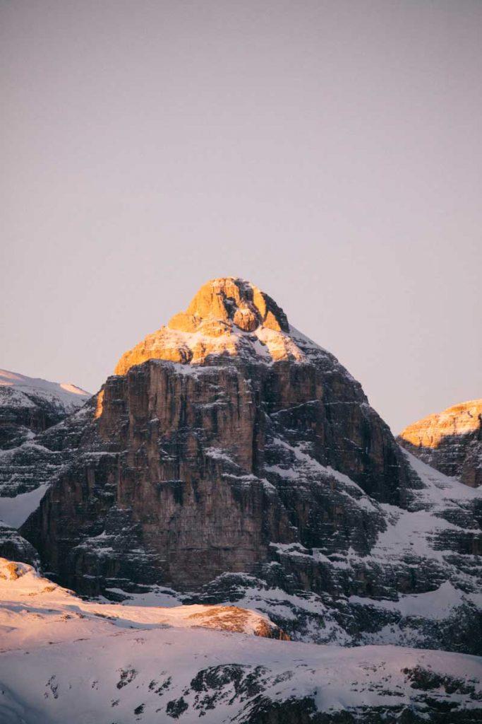Paysage lunaire dans les Dolomites, dans la région d'Alta Badia. credit photo : Clara Ferrand