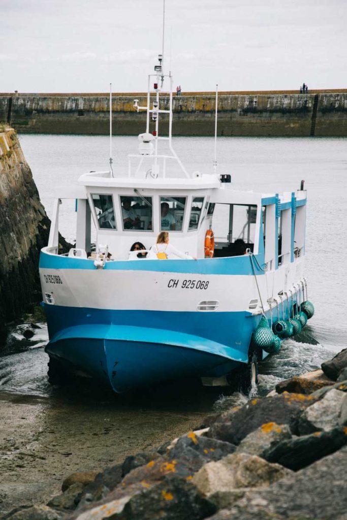 La bateau amphibie pour la traversée de l'île de Tatihou depuis Saint-Vasst-la-Hougue. crédit photo : Clara Ferrand - blog wildroad