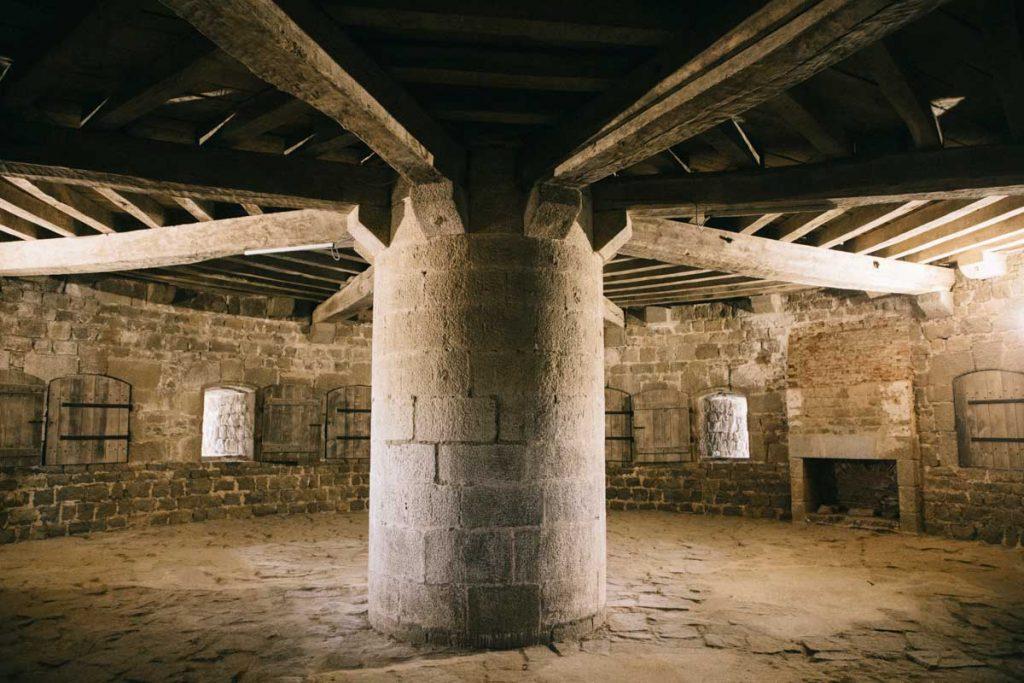 L'intérieur de la tour Vauban sur l'île de Tatihou. crédit photo : Clara Ferrand