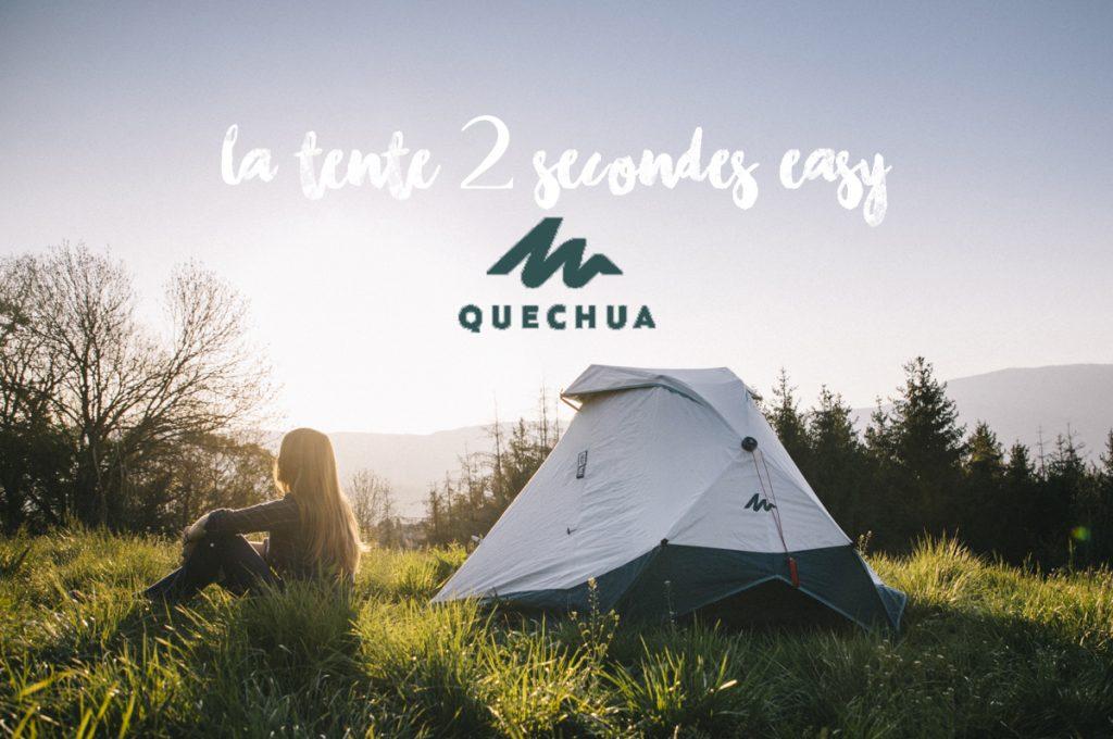 Débuter le camping avec la nouvelle tente 2 secondes de Quechua dispo chez Décathlon