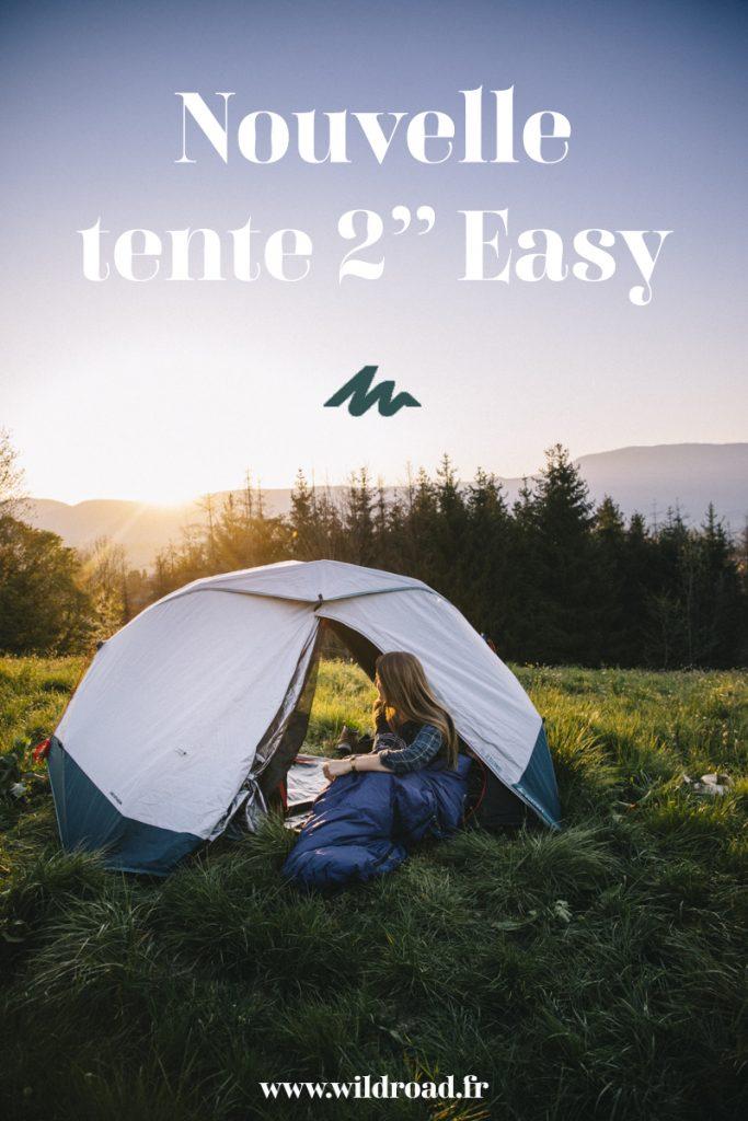 Présentation de la nouvelle tente 2 secondes de Quechua et comparatif avec l'ancien modèle. credit photo : Clara Ferrand - blog Wildroad #bivouac #campign #quechua #decathlon