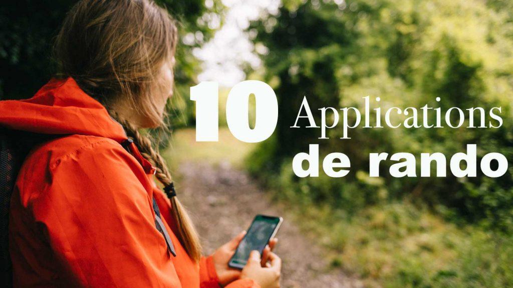 Les meilleures applications pour trouver une randonnée