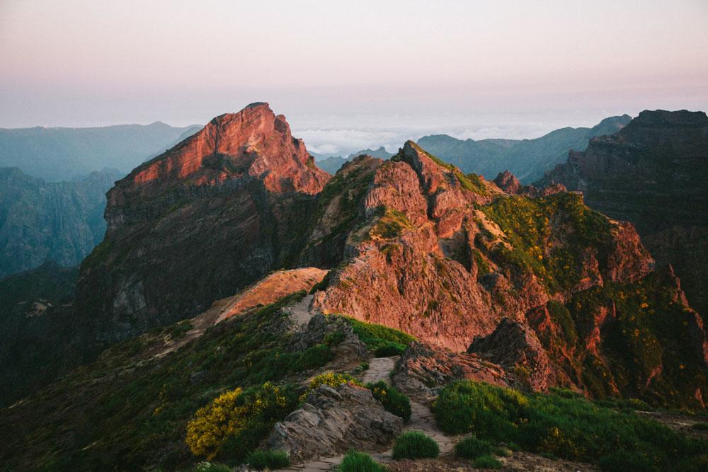 Randonnée sur les anciens volcan à Madère. Crédit photo : Clara Ferrand -blog Wildroad