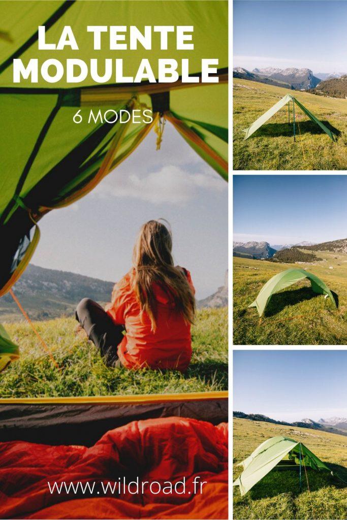 La tente modulable Qaou répondra à toutes vos envie outdoor pour cet été. Elle peut se transformer en hamac, en abri, en tard etc. crédit photo : Clara Ferrand - blog Wildroad #bivouac #randonnée #hiking #bivouac
