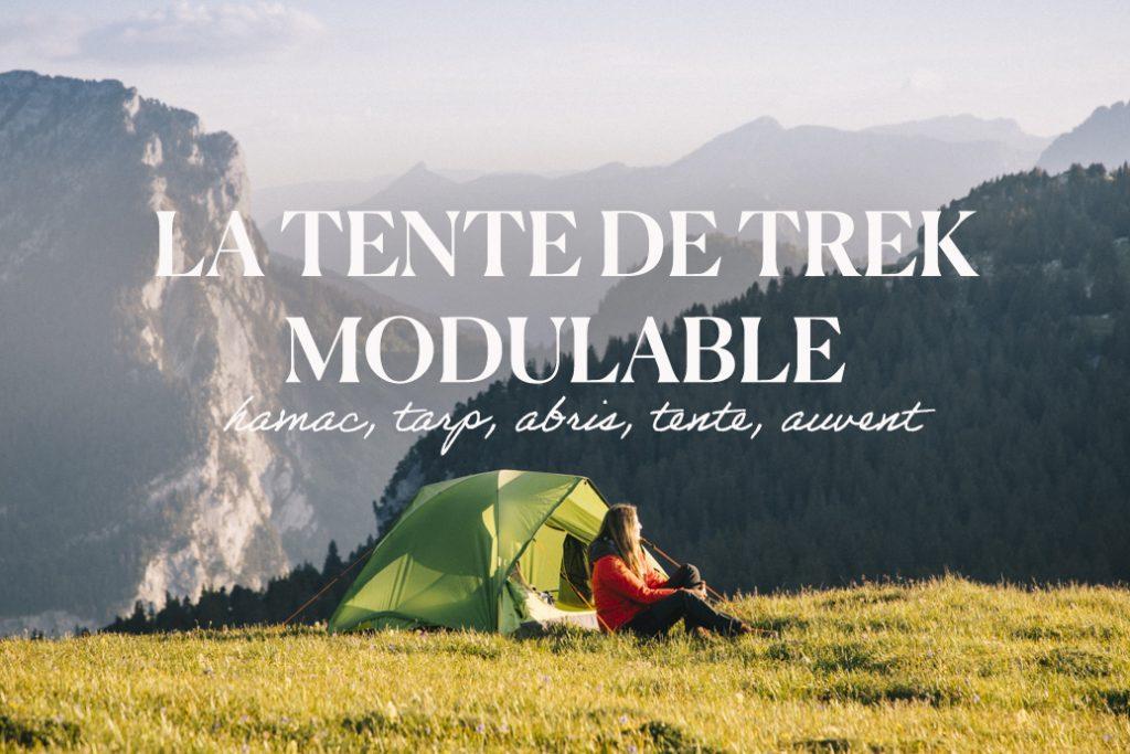 Faire un bivouac avec une tente modulable dans les Alpes. crédit photo : Clara Ferrand - blog Wildroad