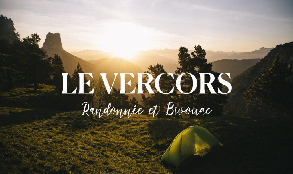 Bivouac sur les hauts plateaux du Vercors face au Mont Aiguille. credit photo : Clara Ferrand - blog Wildroad