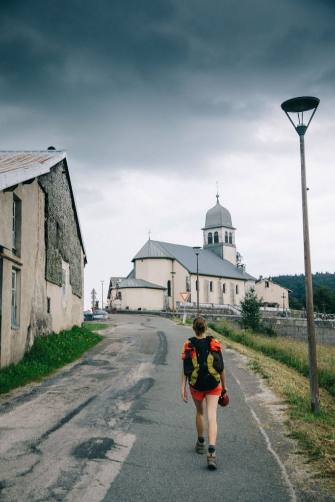 L'orage qui arrive sur le village de Morez. crédit photo : Clara Ferrand - blog Wildroad