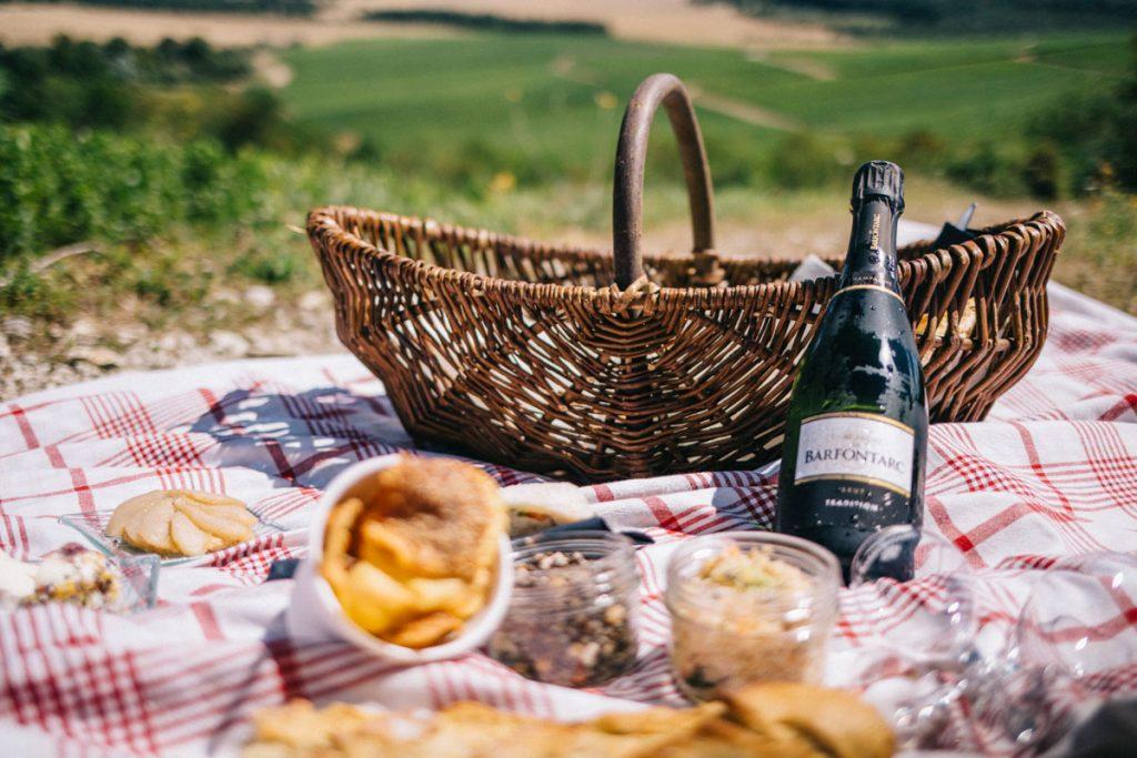 Pique nique dans les vignes de la côte des Bar autour de Troyes. crédit photo : Clara Ferrand - blog Wildroad
