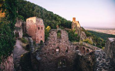 Randonnée dans le massif des Vosges l'incontournable tour des 3 châteaux de ribauvillé. crédit photo : Clara Ferrand - blog Wildroad