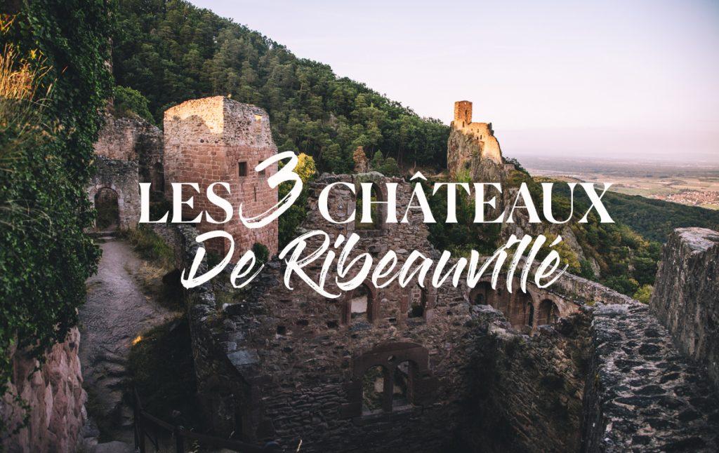La randonnée de s3 châteaux dans le massif des Vosges en hauteur de Ribeauvillé