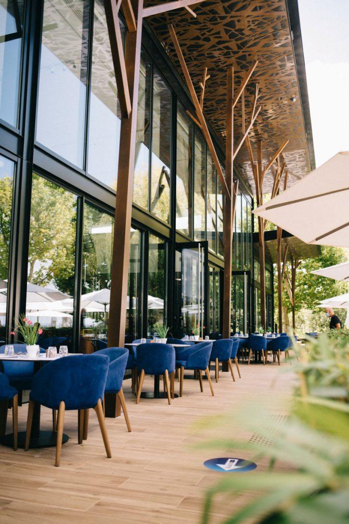 Le restaurant du Belvédère dans la parc naturel régional de la forêt d'Orient. crédit photo : Clara Ferrand - blog Wildroad
