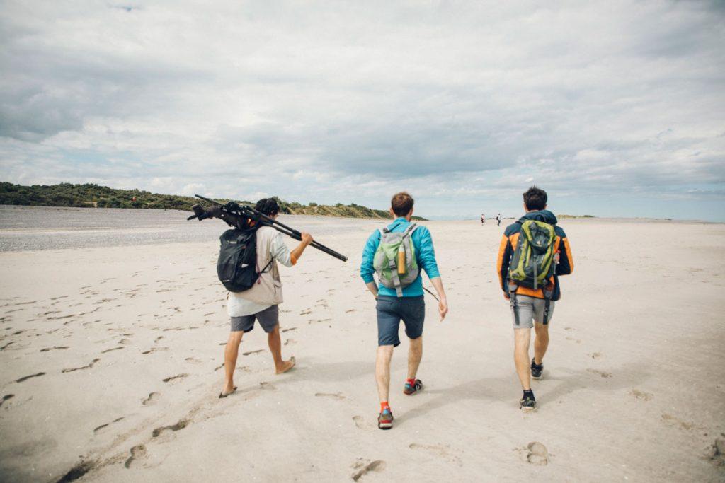 Randonnée dans la baie de Somme pour observer les phoques avec le guide nature Maxime. crédit photo : Clara Ferrand - blog Wildroad