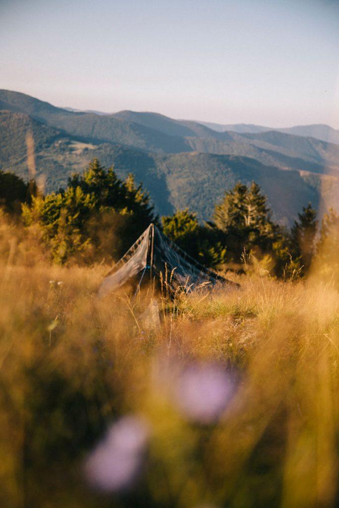 Fair run bivouac ou camping sauvage autour du Ballon d'Alsace, les règles à respecter. crédit photo : Clara Ferrand - blog Wildroad