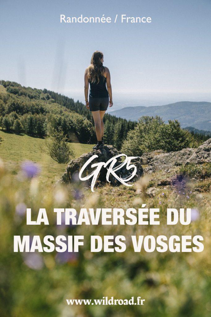 Le sentier de grande randonnée du GR5 dans le massif des Vosges. de Thann à Belfort, un itinéraire sur 3 jours pour découvrir les plus beaux paysages de la région. crédit photo : Clara Ferrand - blog Wildroad #alsace #randonnée #GR5 #france #randonneeitinerante #hiking #trek