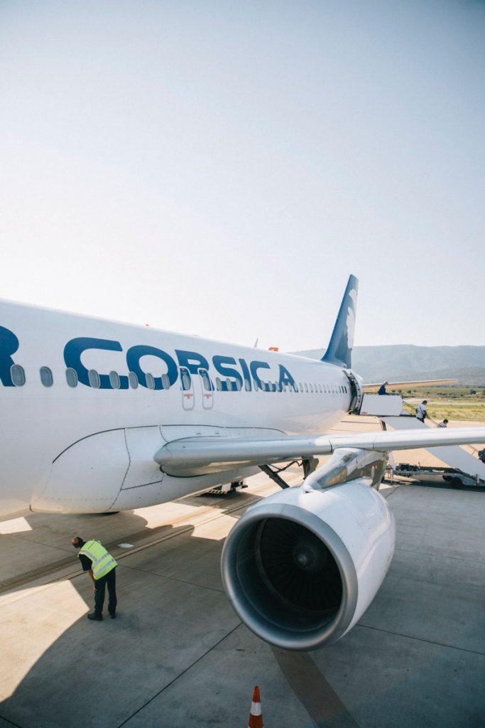 La compagnie Air Corsica pour venir en Corse en vacances. crédit photo : Clara Ferrand - blog Wildroad