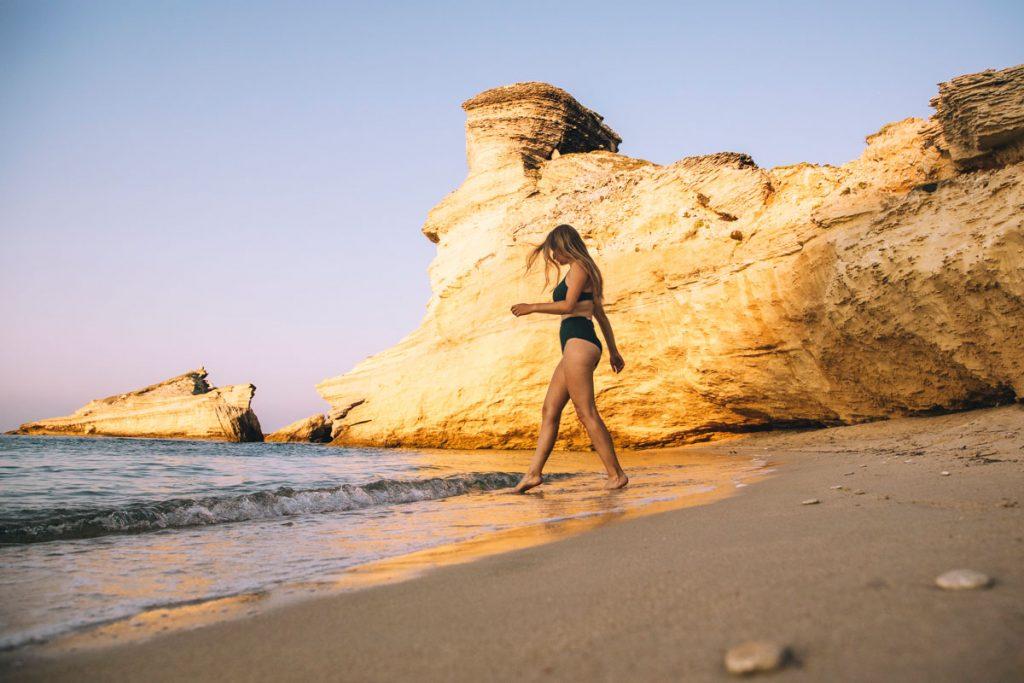 La plage de Saint-Antoine une des plus belles du sud de la Corse. crédit photo : Clara Ferrand - blog Wildroad