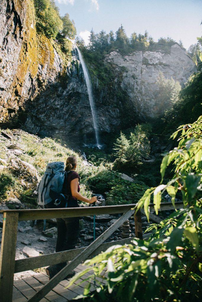 La grande Cascade en Auvergne.  crédit photo : Clara Ferrand - blog Wildroad