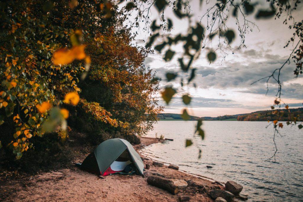 Week-end bivouac à l'automne autour du lac Saint Agnan. crédit photo : Clara Ferrand - blog Wildroad