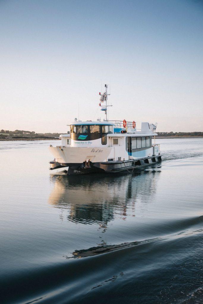 Les navettes bateaux de la compagnie du Glolf depuis Vannes pour aller à Belle-île-en-mer. crédit photo : Clara Ferrand - blog Wildroad