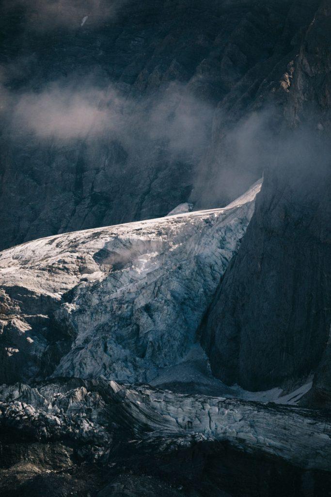 Les plus grands glaciers de la Vanoise pendant une randonnée. crédit photo : Clara Ferrand - blog Wildroad