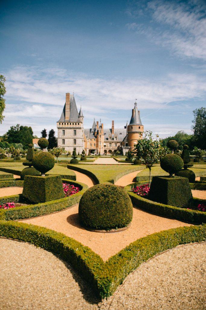 Les jardins à la française du château de Maintenon. crédit photo : Clara Ferrand - blog Wildroad