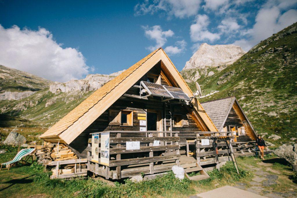 Le refuge de plaisance dans le parc de la Vanoise. crédit photo : Clara Ferrand - blog Wildroad
