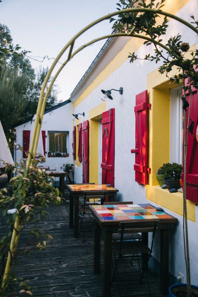 Le restaurant du Chouk'azé à Locmaria. crédit photo : Clara Ferrand - blog Wildroad