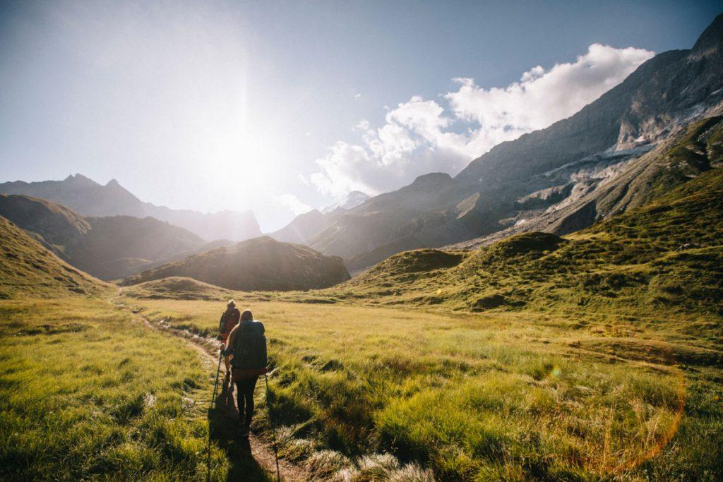 Les sentiers de randonnées dans le parc national de la Vanoise. 3 jours au pied des grands glaciers. crédit photo : Clara Ferrand - blog Wildroad