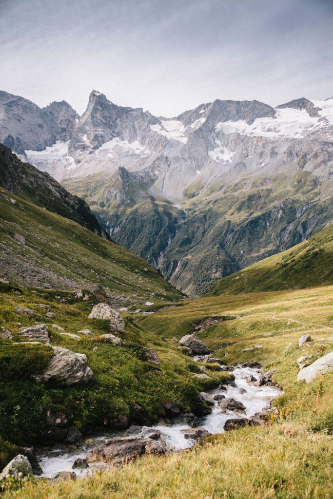 Le paysages des glaciers de la Vanoise. crédit photo : Clara Ferrand - blog Wildroad
