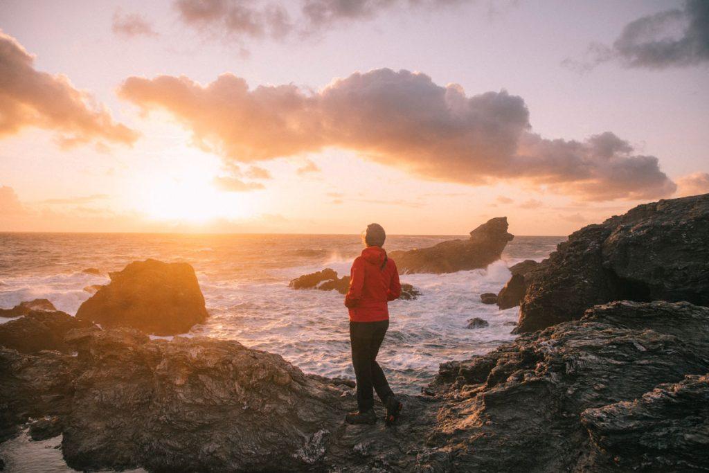 Un coucher de soleil à la pointe des poulains. crédit photo : Clara Ferrand - blog Wildroad