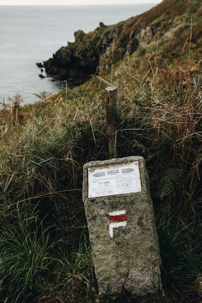 Le tracé du tour de Belle-Île-en-mer une randonnée en 4 jours. crédit photo : Clara Ferrand - blog WIldroad