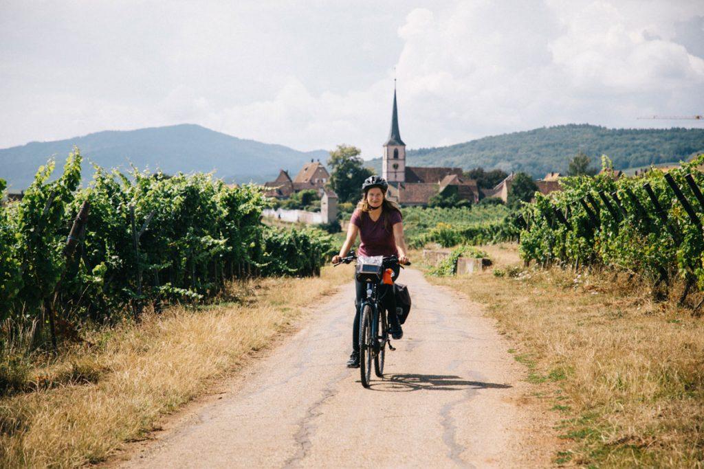 Organiser osn itinéraire à vélo en Alsace pour une semaine. crédit photo : Clara Ferrand - blog Wildroad