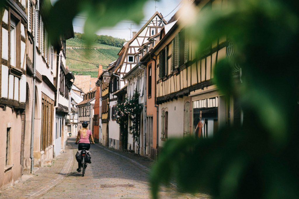 Les maisons à colombages du village alsacien de Barr. crédit photo : Clara Ferrand - blog Wildroad