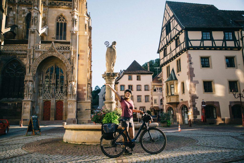 De Marlenheim à Thann pour la véloroute du vignoble en Alsace. crédit photo : Clara Ferrand - blog Wildroad