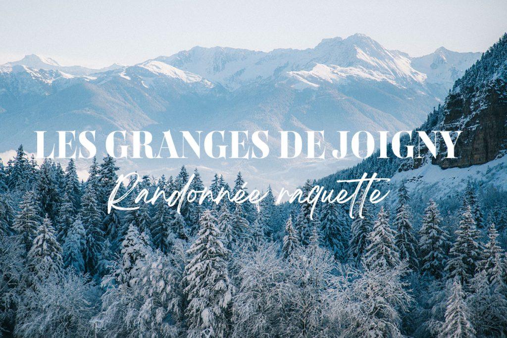 Randonnée en raquette familiale jusqu'aux Granges de Joigny.