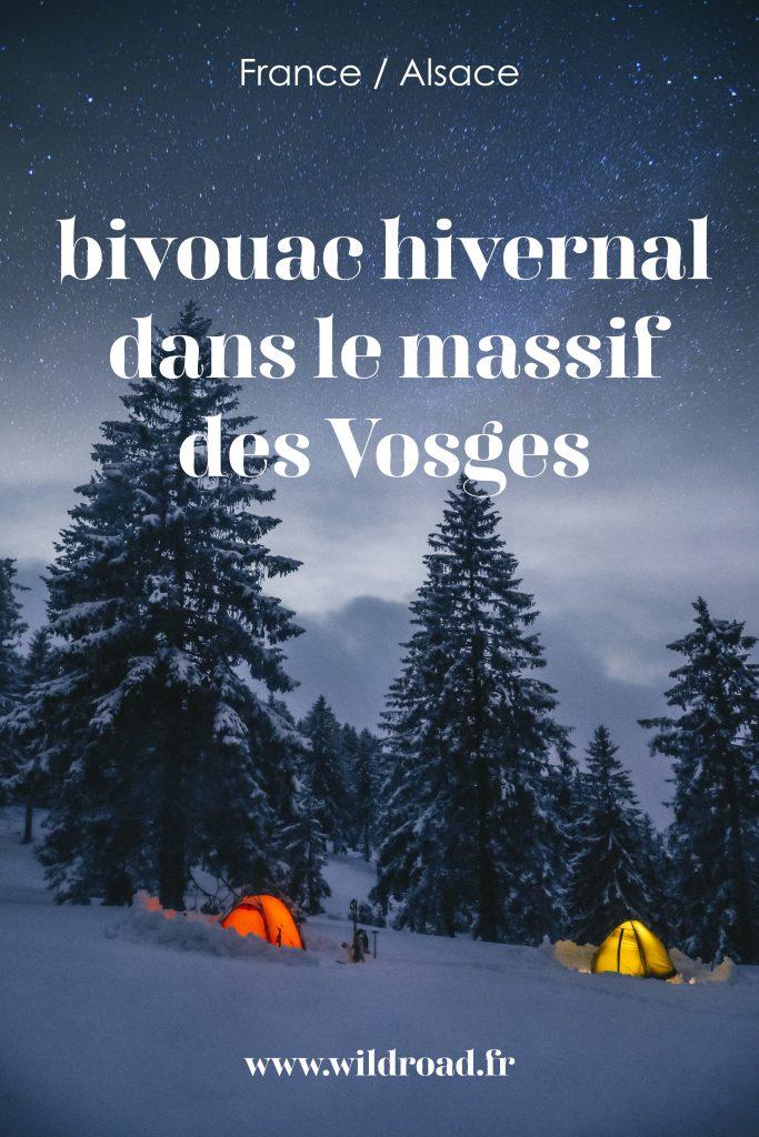 Week-end aventure dans le massif des Vosges en hiver. Idée de bivouac dans la neige autour du Petit Ballon en Alsace. Topo rando et conseils disponibles dans l'article. crédit photo : Clara Ferrand - blog Wildroad #massifdesvosges #grandest #alsace #randonnée #bivouachivernal #hiking #france #weekend #aventure