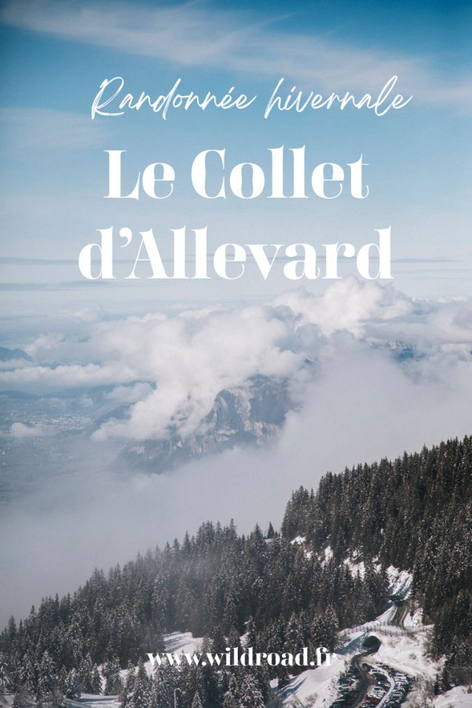 Randonnée raquette au Collet d'Allevard. Le sentier de la crête de l'évêque et son panorama sur le massif de Belledonnes. crédit photo : Clara Ferrand - blog WIildroad. #belledonnes #randonnéeraquette #hiver #alpes #colletdallevard #isère