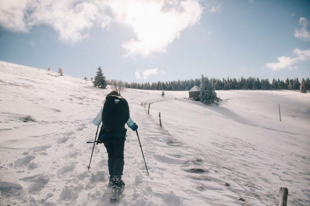Trouver des randonnées raquettes à faire dans le massif des Vosges. crédit photo : Clara Ferrand - blog Wildroad
