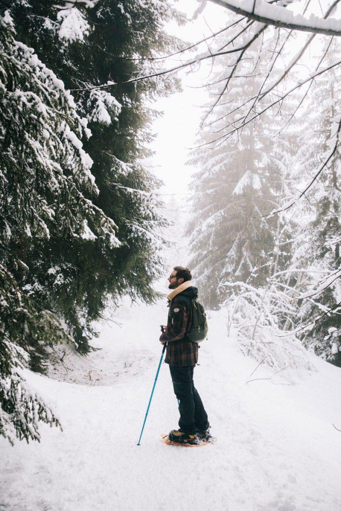 Le sentier de la crête de l'évêque en hiver. crédit photo : Clara Ferrand - blog Wildroad