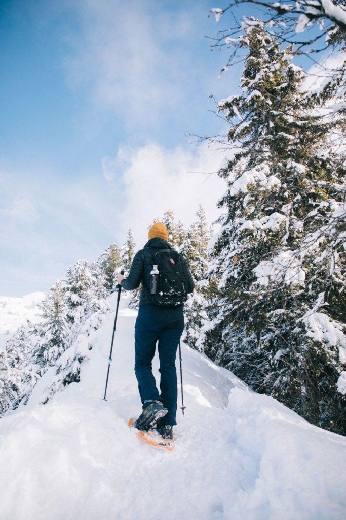 Randonnée dans les alentours de Chambéry en hiver. crédit photo: Clara Ferrand - blog Wildroad