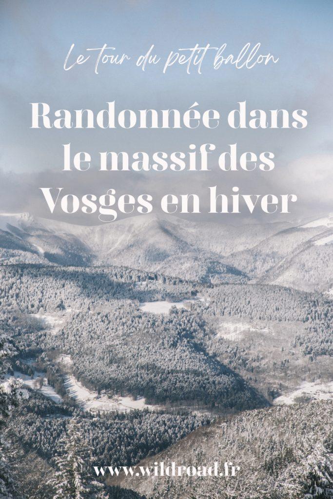 La randonnée du tour du Petit Ballon en hiver dans le massif des Vosges. Accédez au plus beaux panorama durant cette randonnée au départ de Hilsen, dans les hauteurs de Linthal. crédit photo : Clara Ferrand - blog Wildroad #massifdesvosges #petitballon #hiking #randonnee #alsace