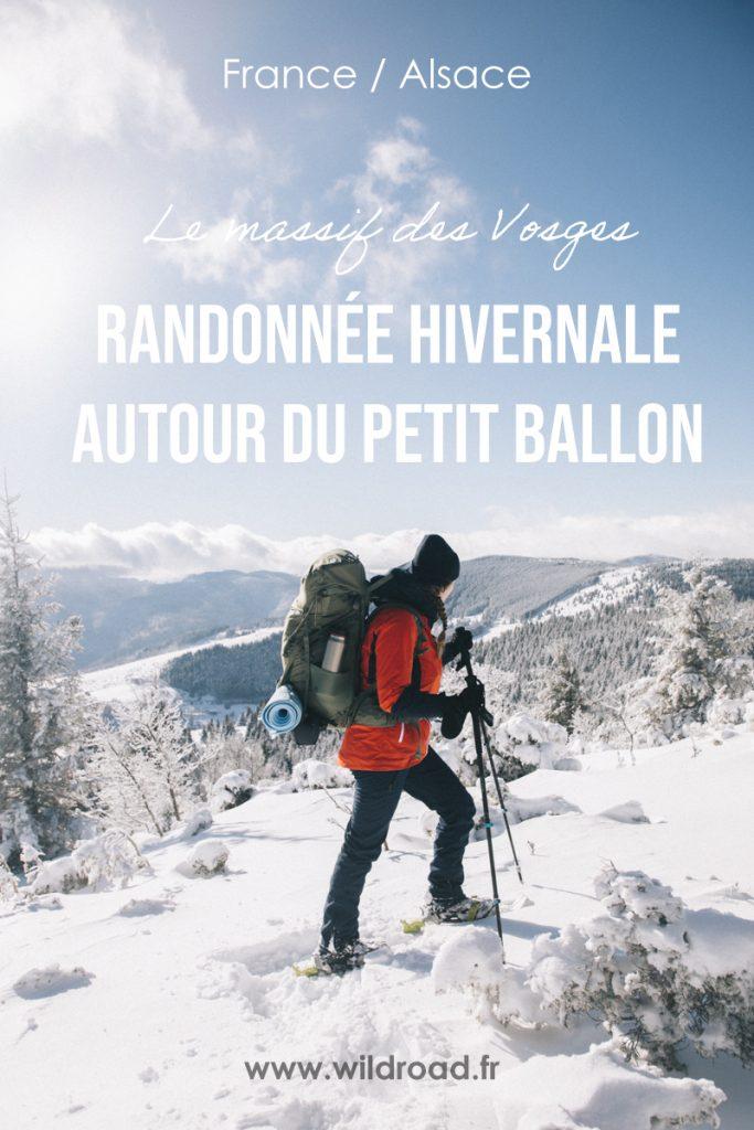 Le tour du Petit Ballon, une randonnée hivernal à faire en Alsace dans le massif des Vosges. crédit photo : Clara Ferrand - blog Wildroad #alsace #randonnée #massifesvosges #guebwiller #petitballon #bivouac