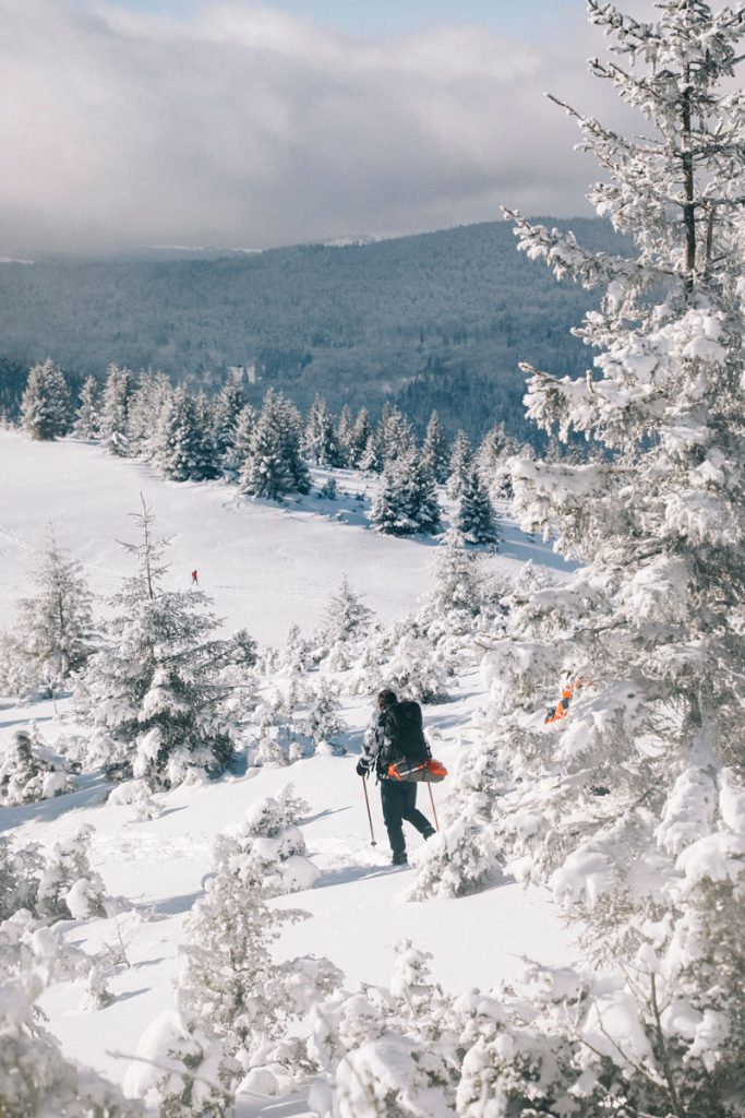 La vallée de Guebwiller et le Markstein depuis le Steinmauer. crédit photo : Clara Ferrand - blog Wildroad