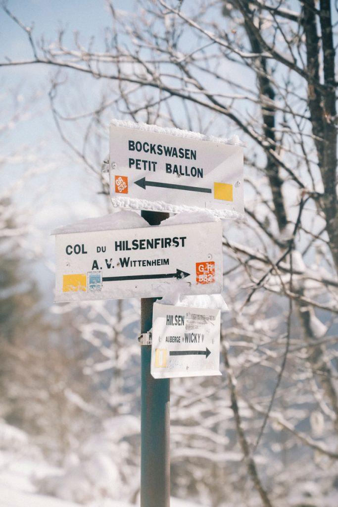 Le col du Hilsenfirst en Alsace. crédit photo : Clara Ferrand - blog Wildroad
