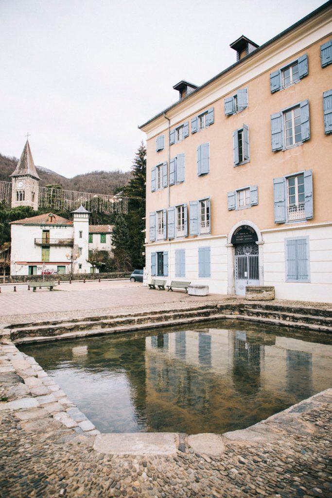 Le bassin des ladres à Ax-les-Thermes . crédit photo : Clara Ferrand - blog Wildroad