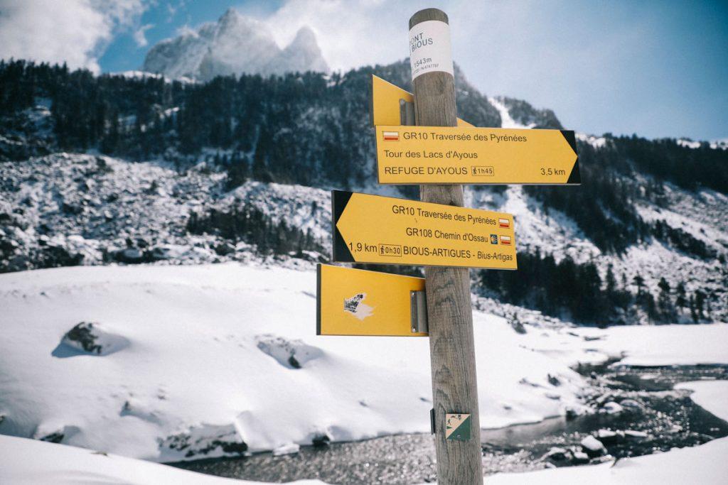 La randonnée des lacs d'Ayous sur le GR10 en hiver. crédit photo. Clara Ferrand - blog Wildroad